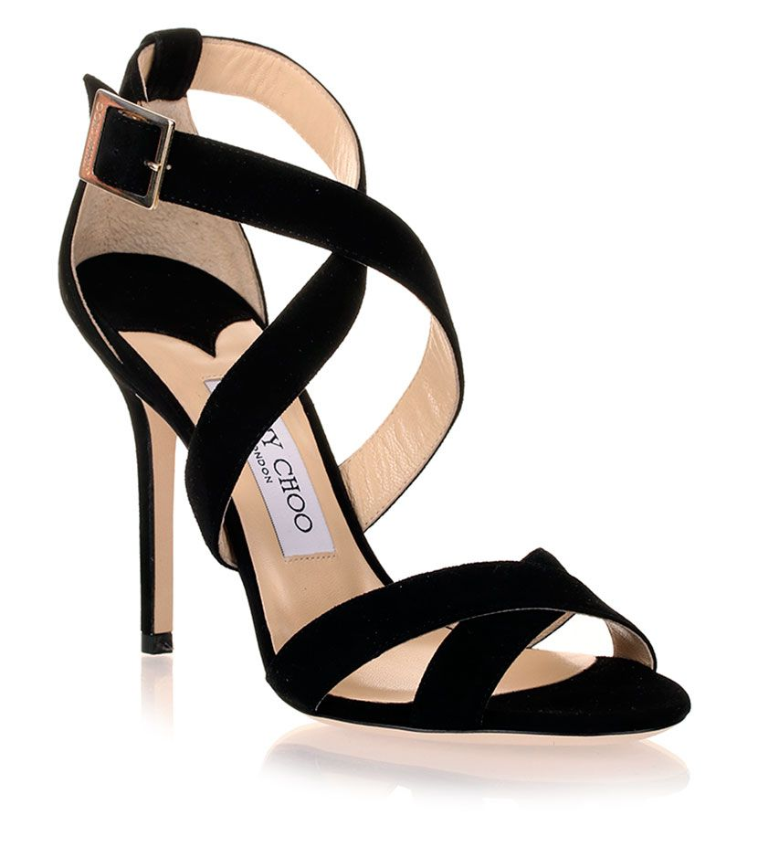 6f8fb845e38 Jimmy Choo Lottie Black Suede Sandal