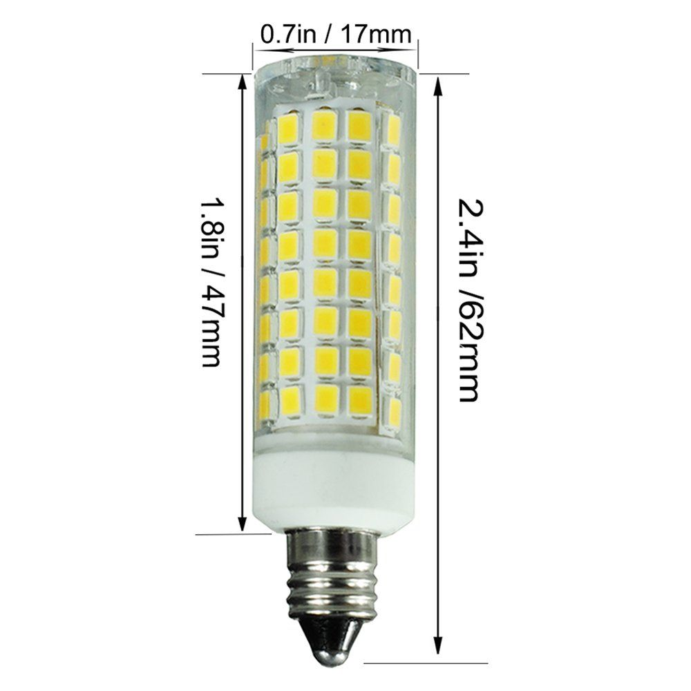 E11 Led Bulb 80w Or 110w Equivalent Halogen Replacement Lights Dimmable Mini Candelabra Base 1000 Lumens Daylight 6000k Ac110v 120v Led Bulb Light Bulb Bulb