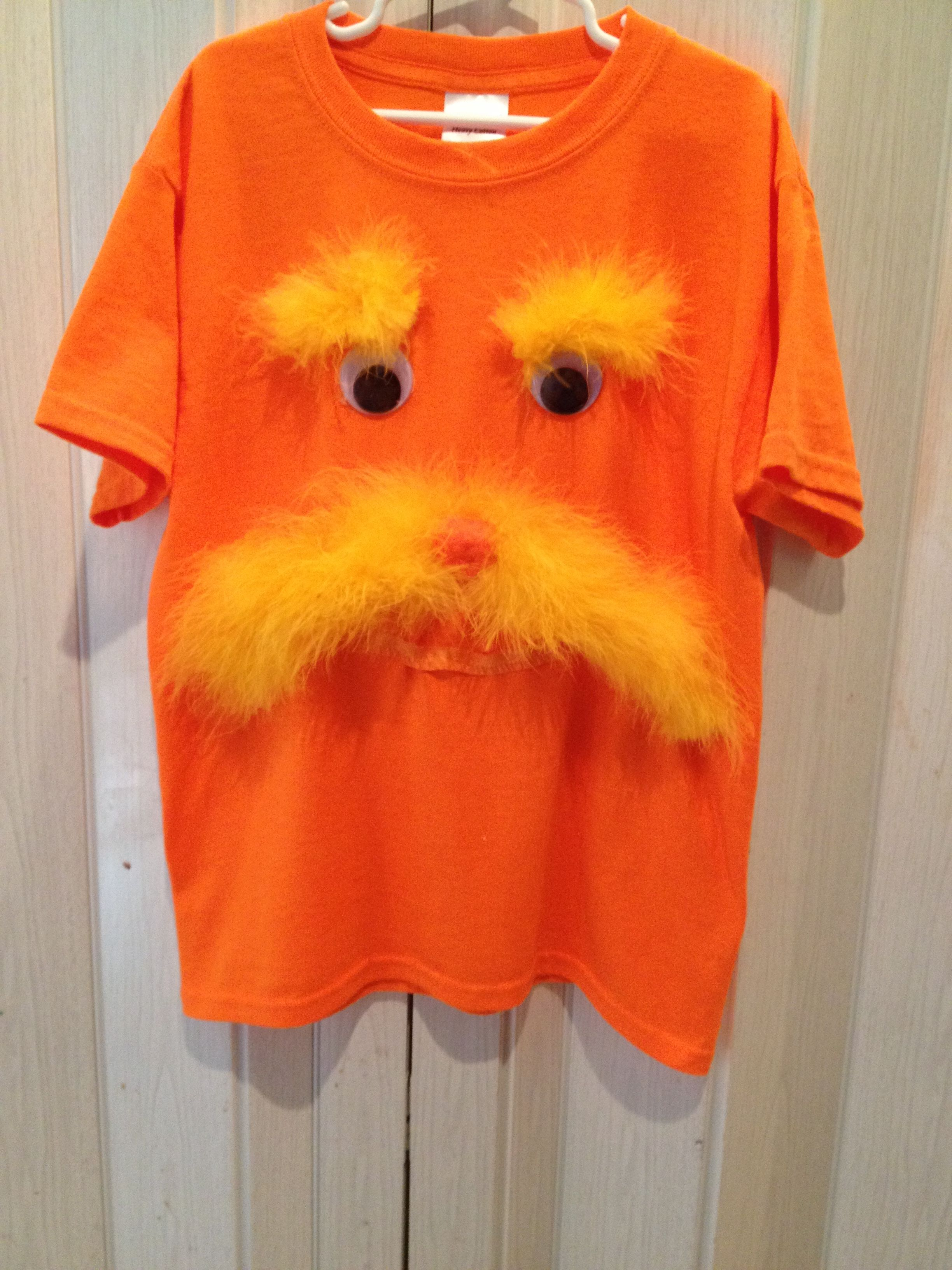 Lorax Shirt For Dr Suess Week More Dr Seuss Costumes Book Characters Dress Up Dr Seuss Shirts