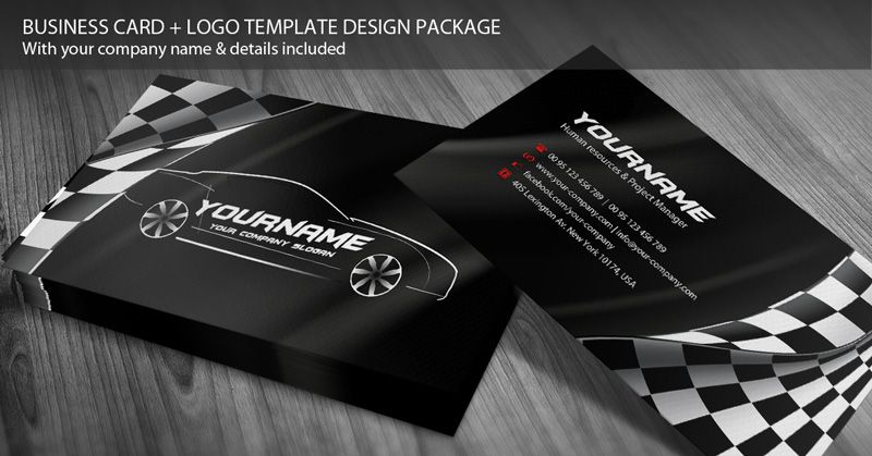 Design business cards automotive template free premium business design business cards automotive template wajeb Choice Image