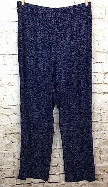 8412cddc3ceb43 Coldwater Creek Womens PL Navy Blue Travel Knit Pants Acetate Stretch Pull  On #ColdwaterCreek #CasualPants