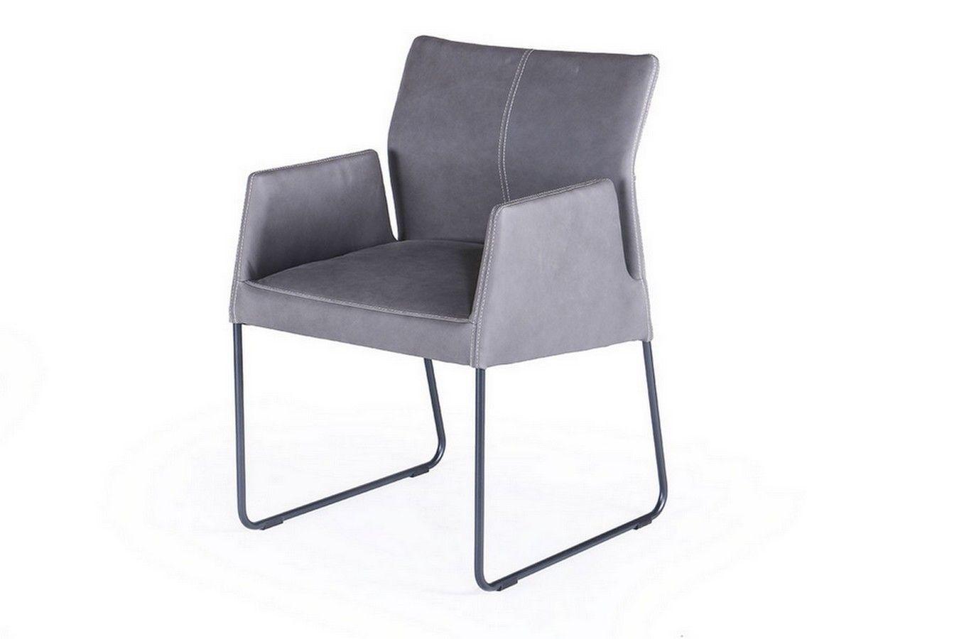 Designer Armlehnstuhl Leder Grau Online Bestellen Bei Lagerhaus De Armlehnstuhl Leder Armlehnstuhl Stuhle