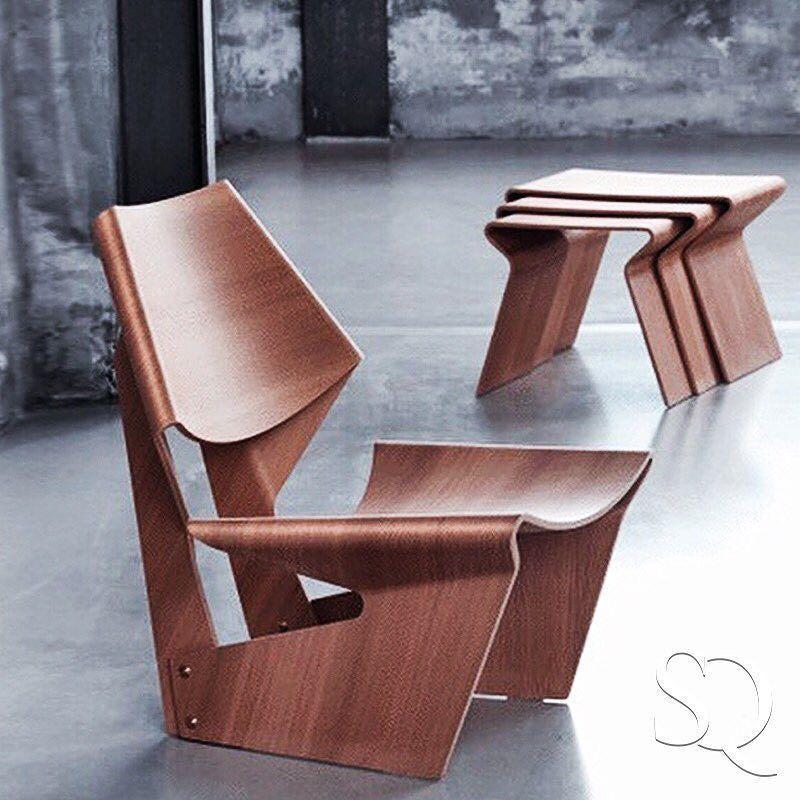 Lange Production Design Interior Chair Table Sharp Scandinavian Swedish Austere New York Brown Camel Syrup