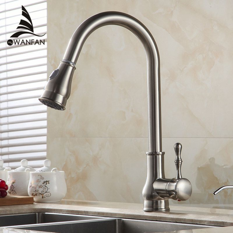 Kitchen Faucet Brass Brushed Nickel High Arch Kitchen Sink Faucet Endearing Brushed Nickel Kitchen Faucet Design Inspiration