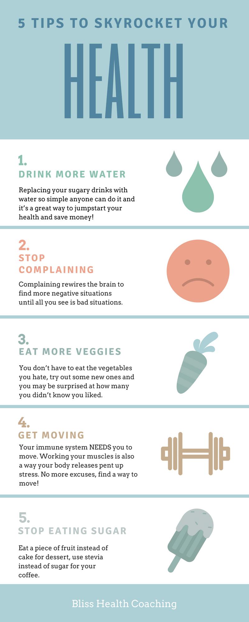 5 Tipps um Ihre Gesundheit in die Höhe zu treiben