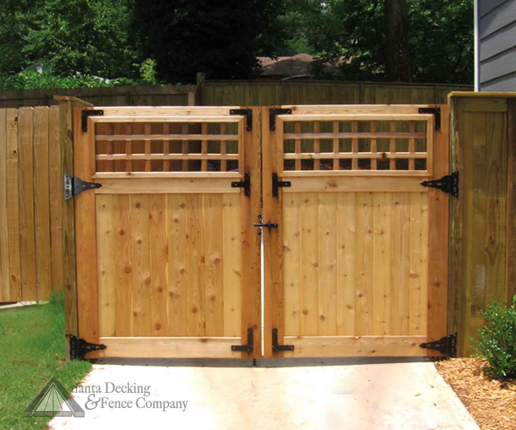 Pictures of Custom double gate from Atlanta Decking and Fence ...