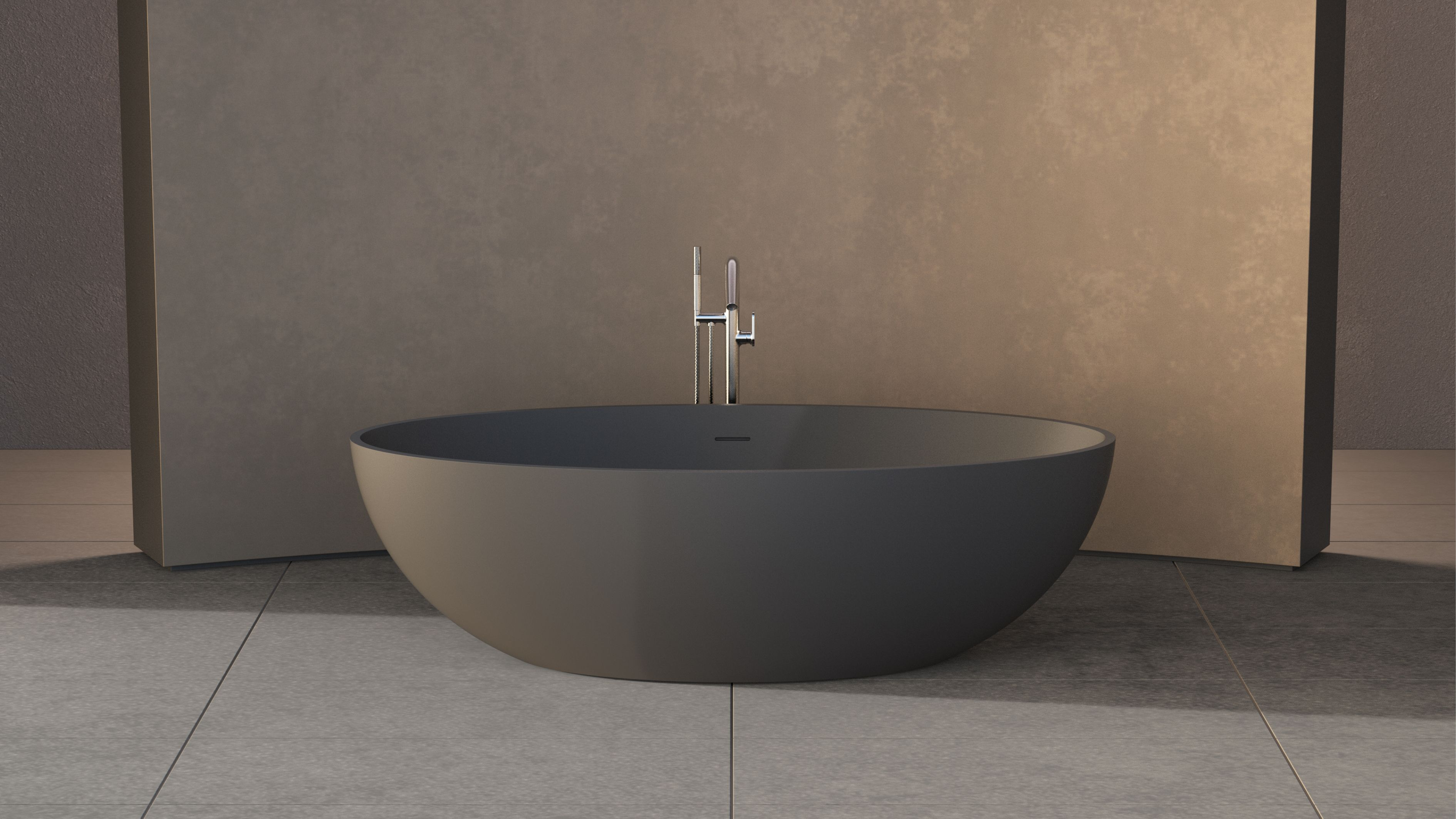 New Solidellipse Freestanding Bathtub Size : 1800x880x550mm Solid ...