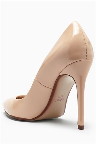 Buy Nude Signature Point Court Shoes from the Next UK online shop ...