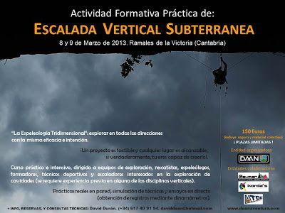 Escalada Vertical Subterránea (8 y 9 marzo. Ramale...