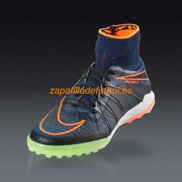 94ec24360 El mas nuevo Botas de futbol Sala Nike Hypervenom X Proximo TF Negro  Naranja Total Del Corredor Azul Negro