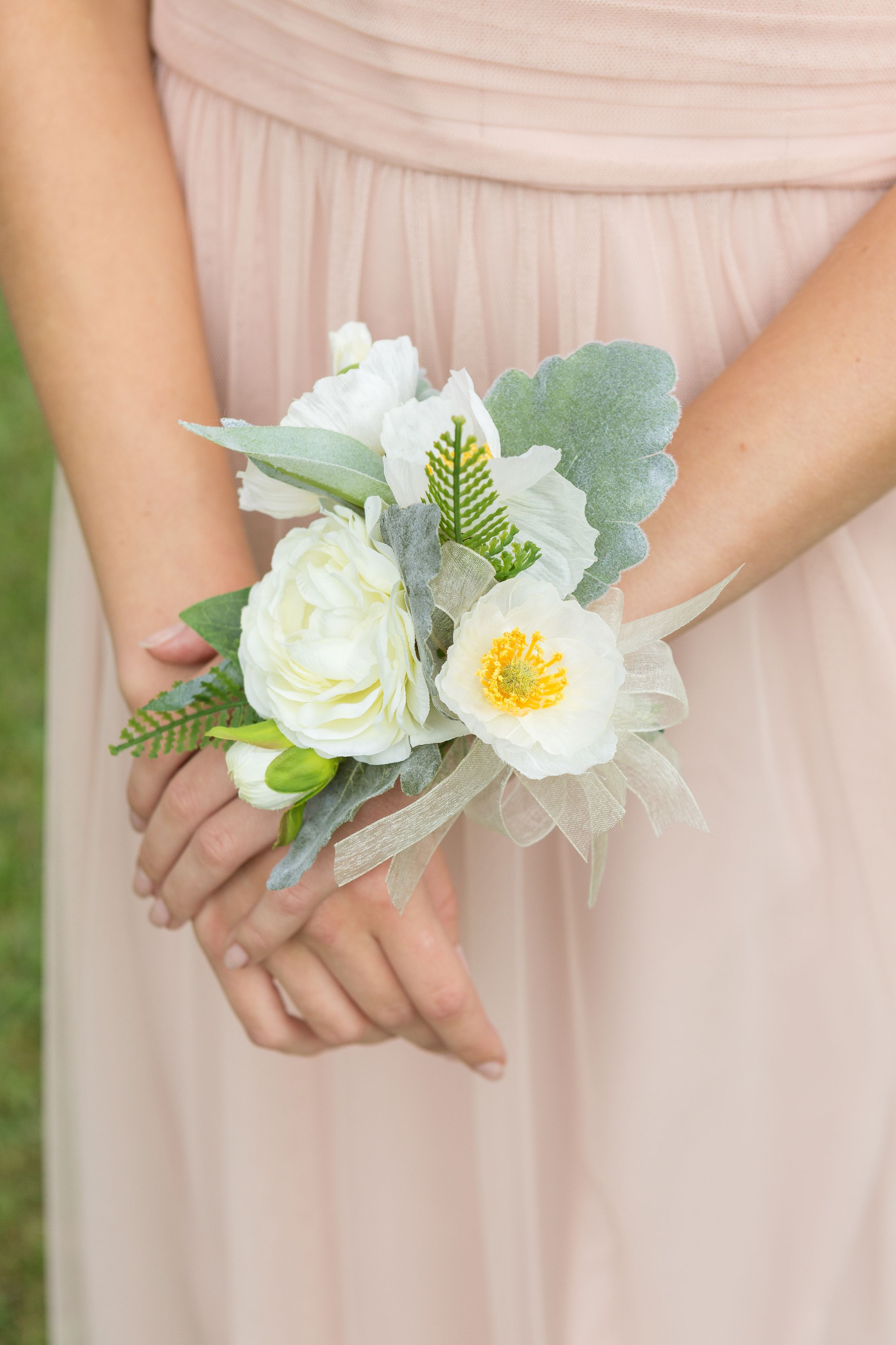 Madison Collection Corsage Available For Rent Lush Silk Flowers