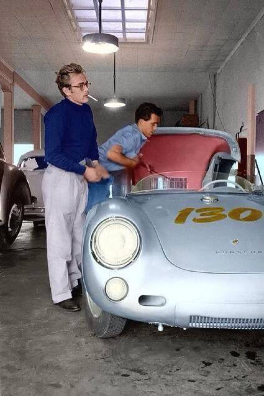 james dean and his porsche 550 spyder little bastard