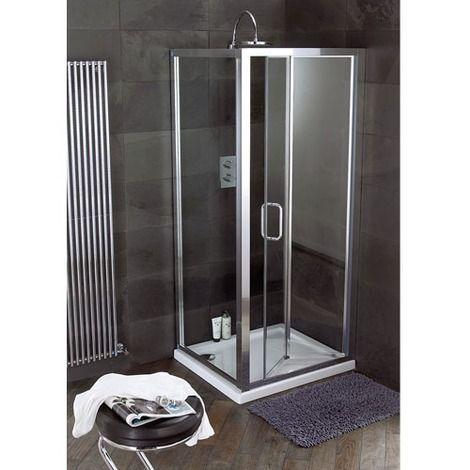 Atlas 1000mm Shower Enclosure Bifold Door Shower Enclosure Small Bathroom With Shower Shower Doors