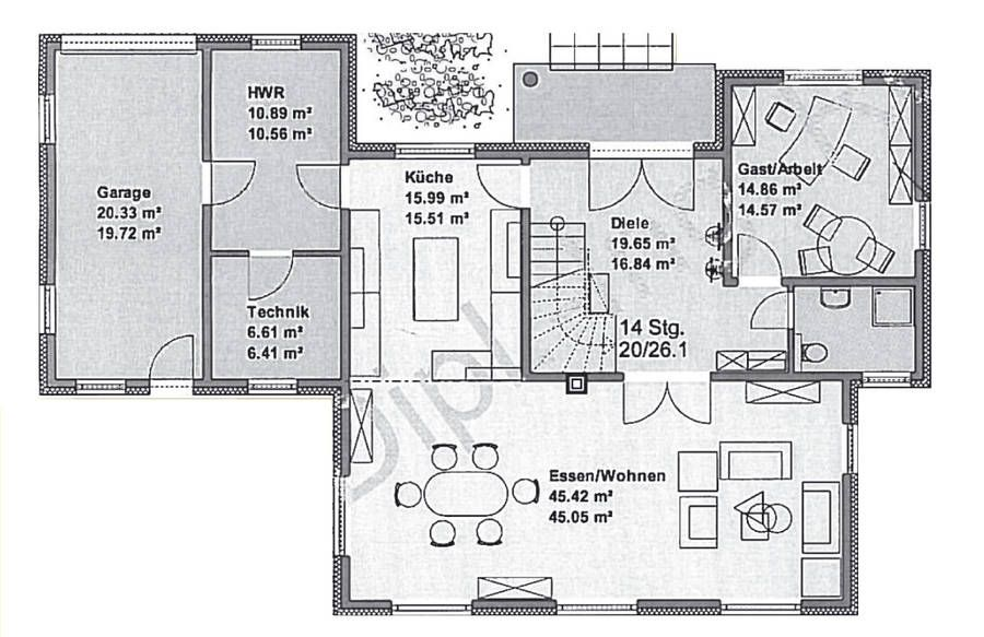 Häuser - Stadtvilla - Einfamilienhaus - L-Bungalow - Das Haus Bau - kleine l küche