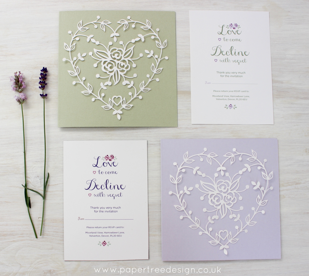 Modern Vintage Wedding Stationery — Paper Tree Design Wedding ...