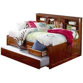 Found it at Wayfair - Bookcase Daybed with Storage and Trundle
