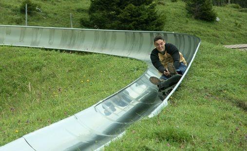 Kandersteg, Switzerland  Rodelbahn - the summer bobsled run