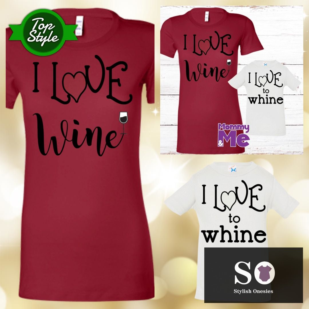 Wine Or Whine Mommy And Me Shirts Baby Babiesofig Onesie Stylishonesies Babyclothes Mommy And Me Shirt Mommy And Me T Shirts For Women