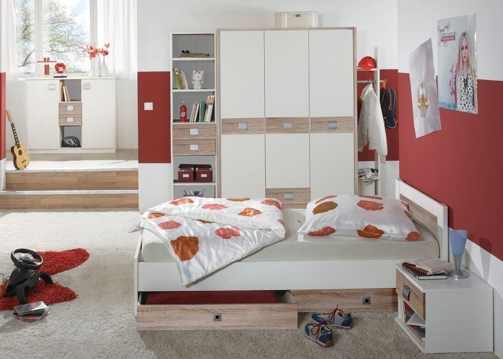Jugendzimmer komplett weiß  Jugendzimmer komplett Weiß Eiche Sägerau 5706. Buy now at https ...