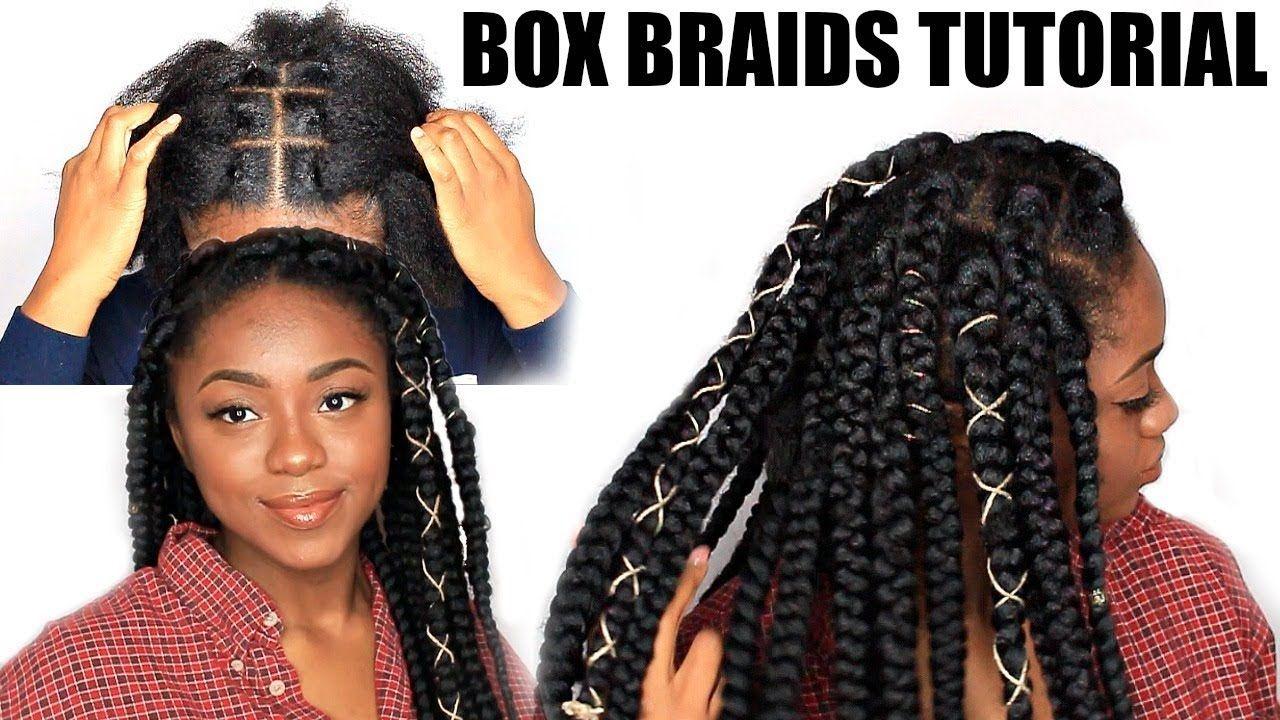Rubber Band Method Box Braids Tutorial Chizi Duru Youtube Hair