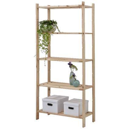 Sencys opbergrek hout 170 x 75x40 cm | Opbergrekken | Opbergen ...