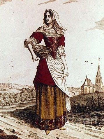 1620-1660: peasant women's clothing | 1660-1700 Fashion ...