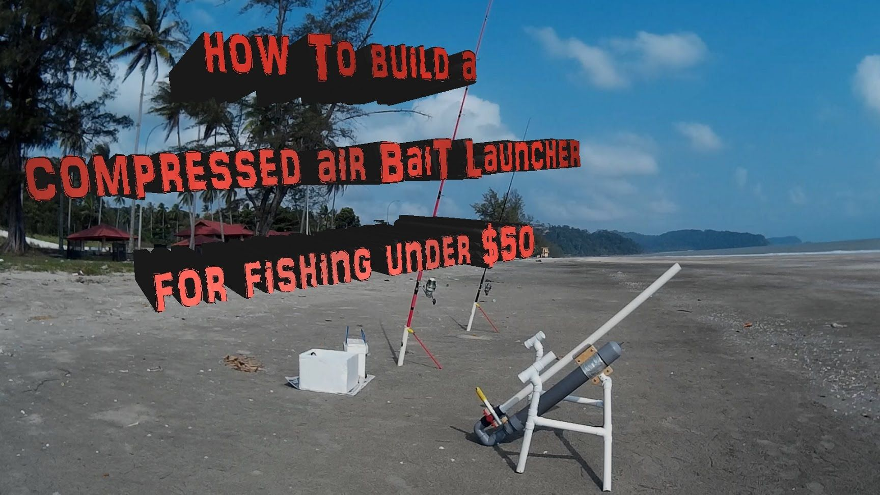 How to build a compressed air bait launcher for fishing for Fishing youtube channels