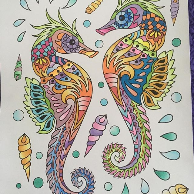 Stunning Seahorse Colouring Page By Diananicoll P Using Their Chameleon Pens Chameleonpens Pen Marker Alcoholmar Colorful Art Chameleon Color Art Journal