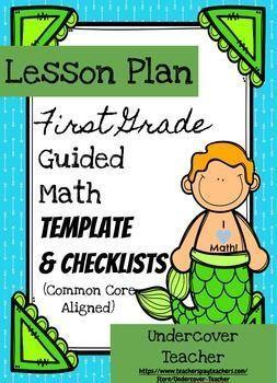 St Grade Guided Math Lesson Plan Template  Checklists Bundle