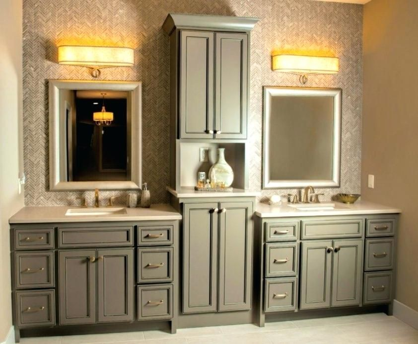 Bathroom Cabinets Double Sink Bathroom Double Vanity With Center