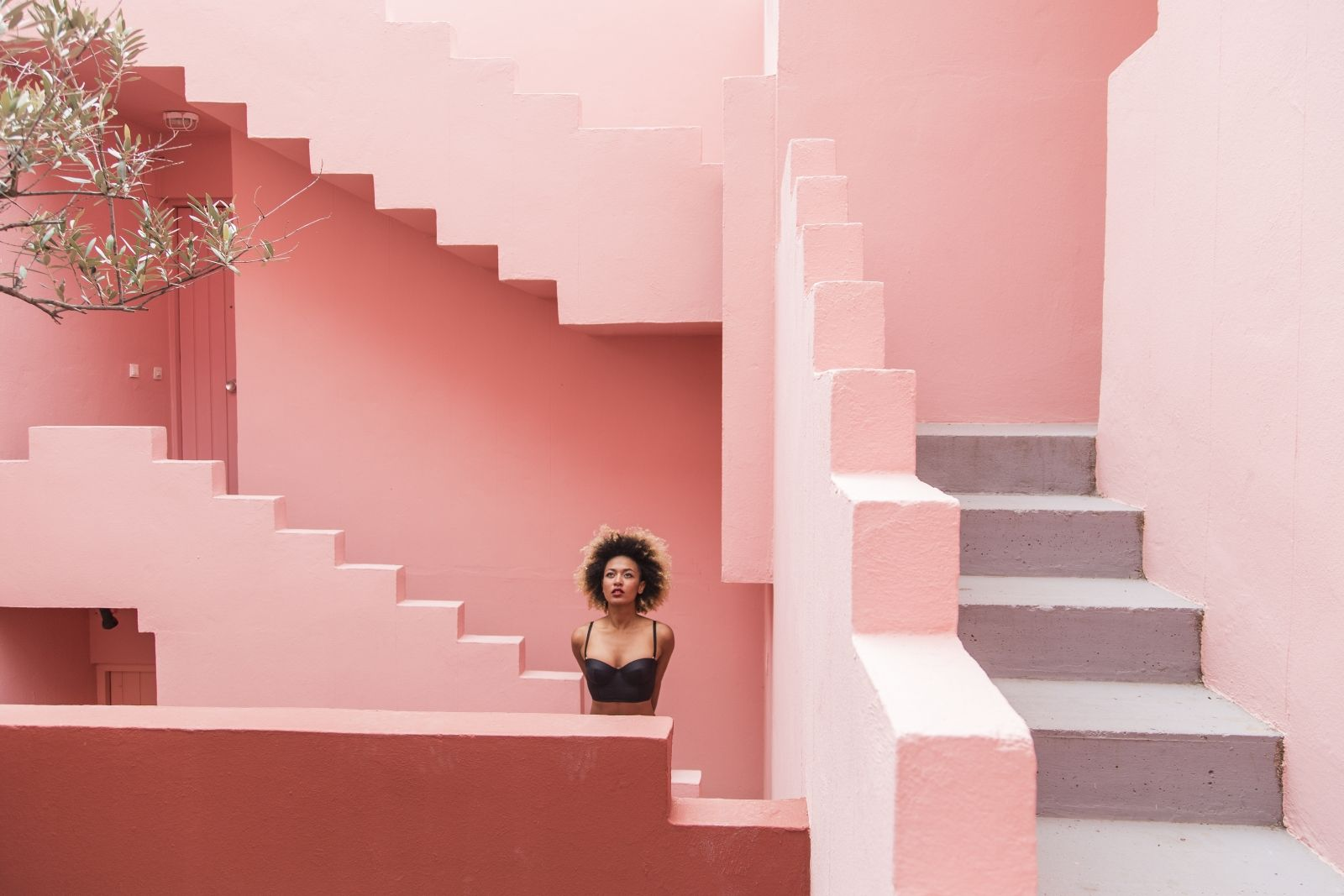 Best Pink Stairs Wall Pink Houses Store Design Shop Interiors 640 x 480