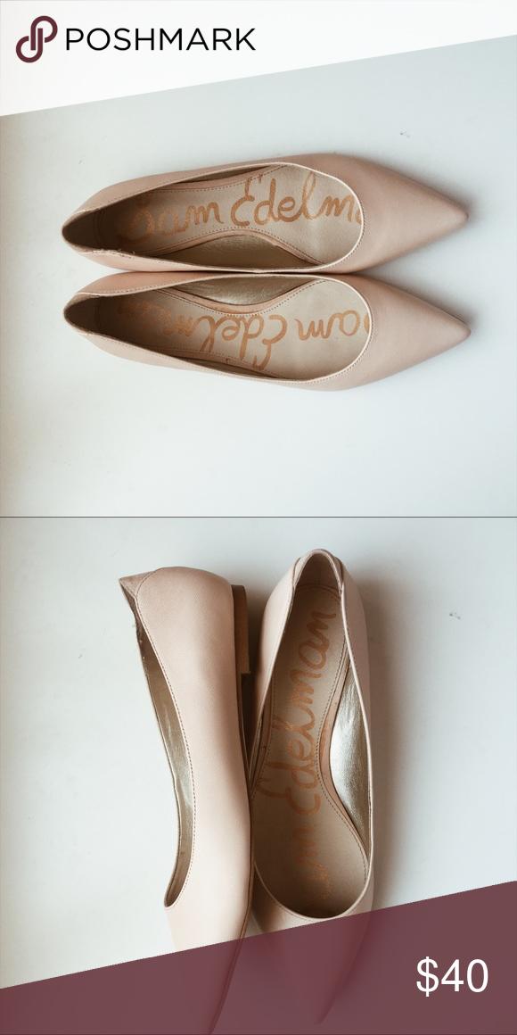 aea825f2e  Sam Edelman  Rae Leather Pointed Toe Flats Sam Edelman