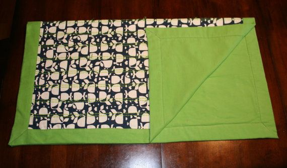 Flannel Baby or Children's Blanket  Navy Kelly by OhSewRandom, $18.00