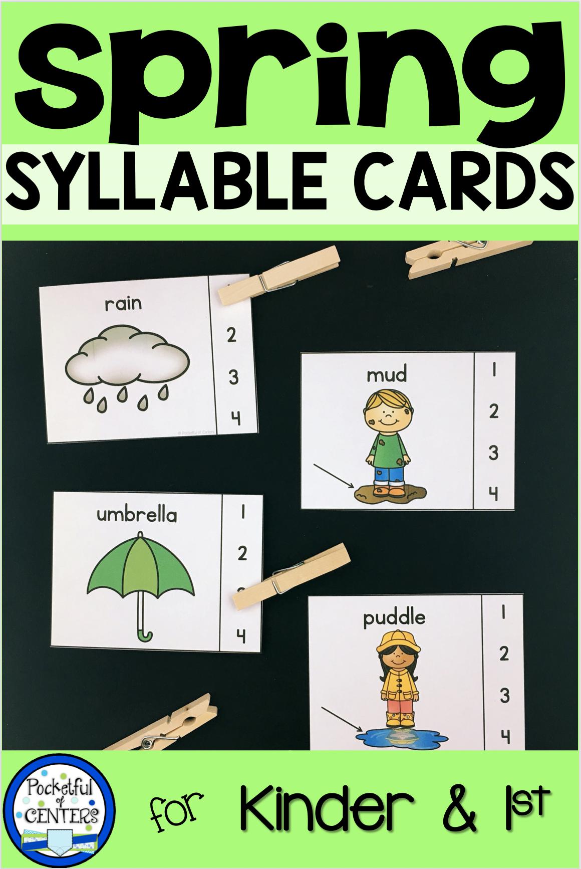 Syllables In Kindergarten