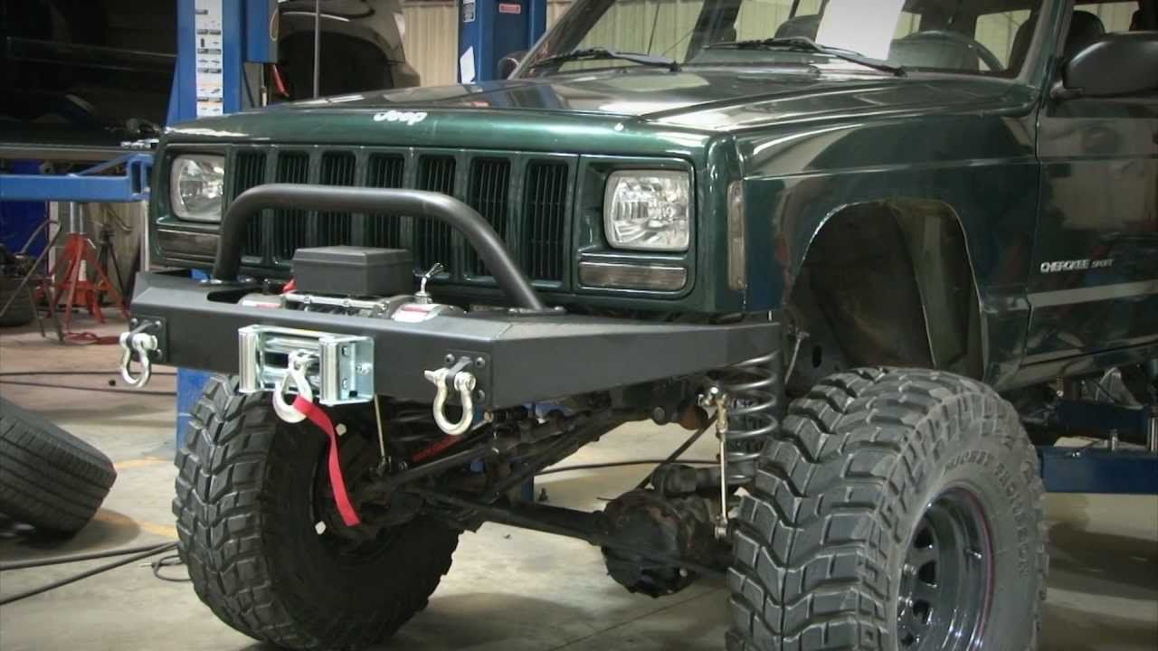 Jeep Cherokee Xj Winch Bumper By Rough Country Youtube Jeep Xj