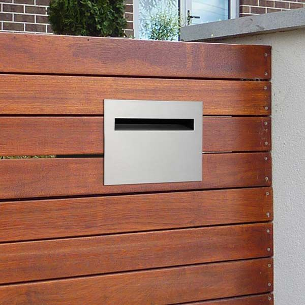 Details About Milkcan Fence Mount Letterbox 304 Stainless