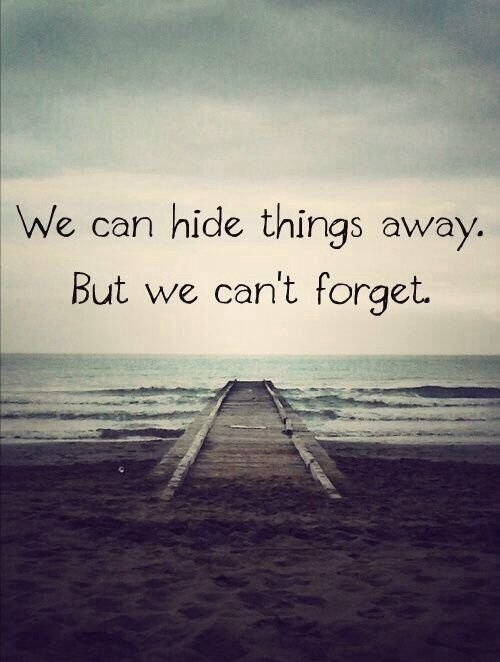 Forget Love Quotes Mesmerizing We Can Hide Things Away But We Can't Forget Love Quotes Quotes