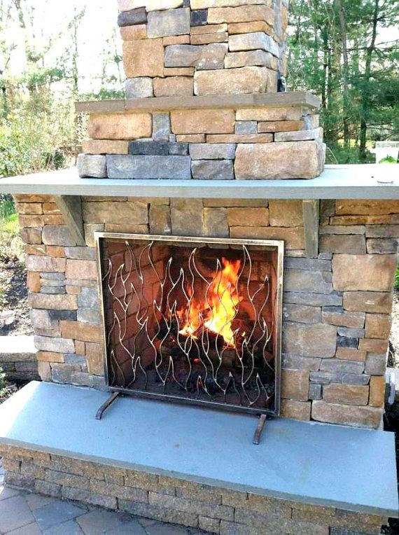 Fireplace Screen Made To Fit Your Firebox Hand Forged Wrought Iron