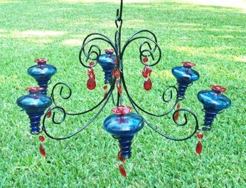 Chandelier hummingbird feeder craft ideas pinterest gardens chandelier hummingbird feeder mozeypictures Choice Image
