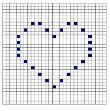 Resultado de imagen para diagrama manta crochet filet con corazones