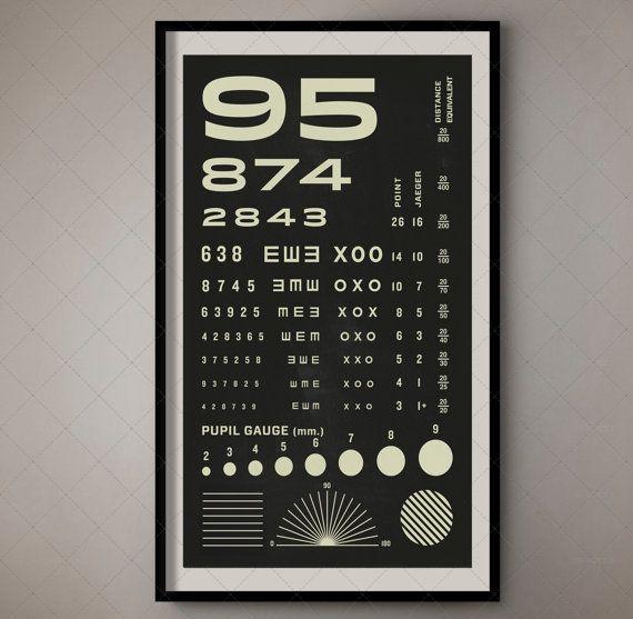 Rosenbaum Eye Chart Pocket Vision Test For Optometrists Vintage
