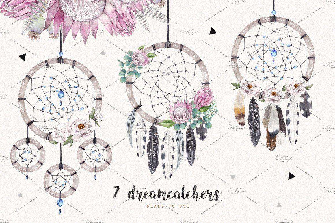 dreamcatchers watercolor setnatali smolova on