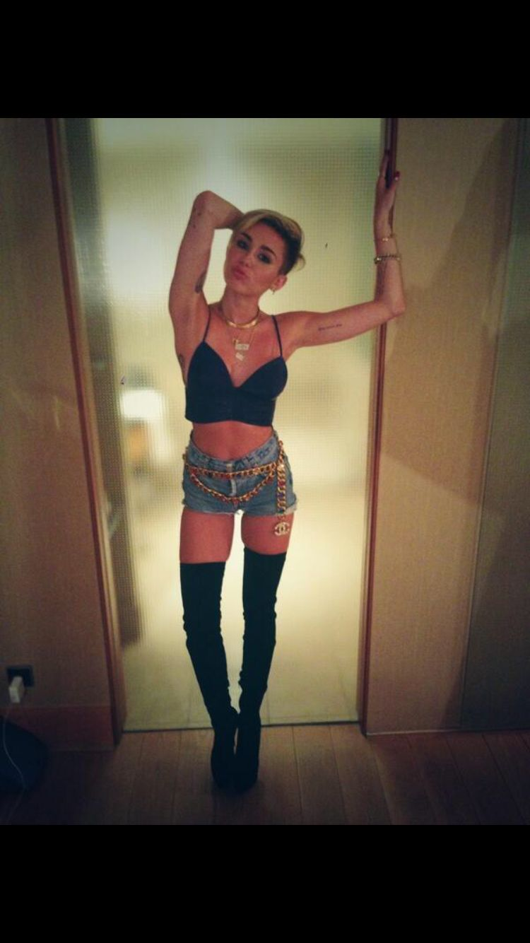 miley cyrus thigh high boots miley pinterest miley cyrus