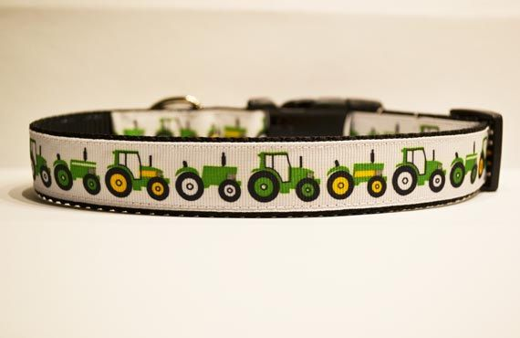 John Deere Tractor Dog Collar By Charmanique On Etsy 14
