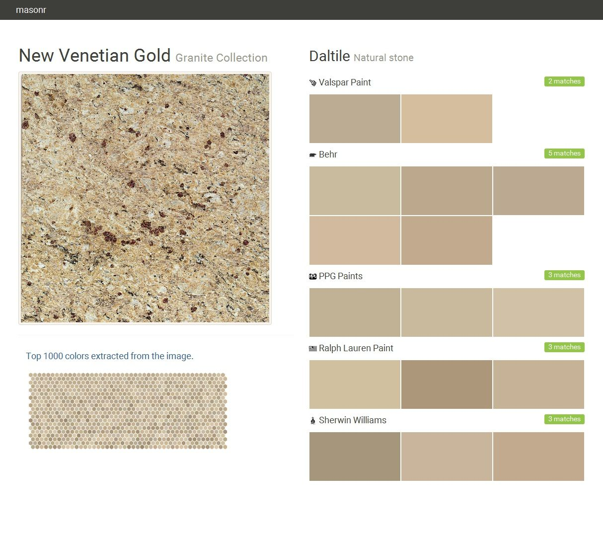 New venetian gold granite collection natural stone for What paint color goes with gold