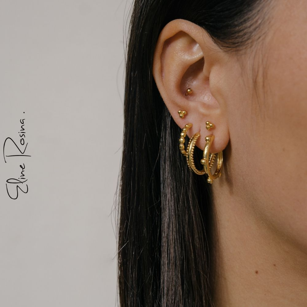 Photo of Eline Rosina | Ohrentzündung | Gold | Ohrenparty | Earcandy | Ohrringe | Ohrstecker …