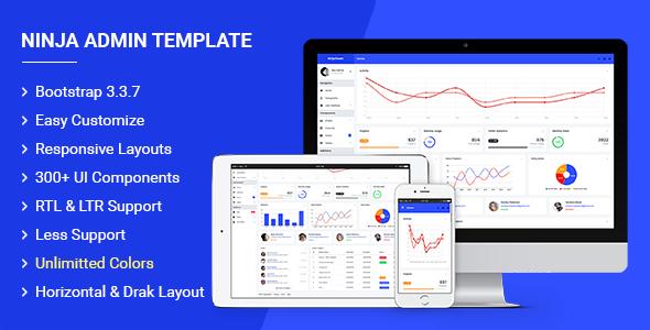 Ninja - Responsive Admin Dashboard Template | Best Premium