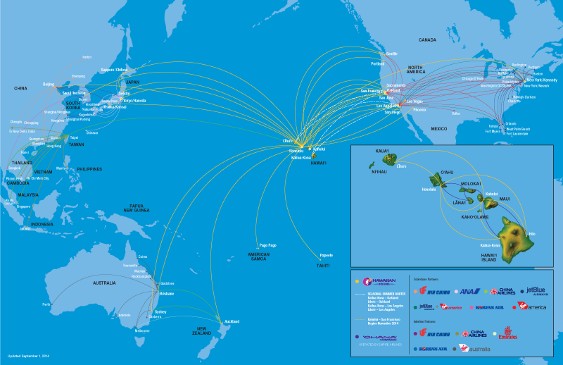 Travel to hawaii map of hawaiian airlines flight destinations travel to hawaii map of hawaiian airlines flight destinations gumiabroncs Gallery