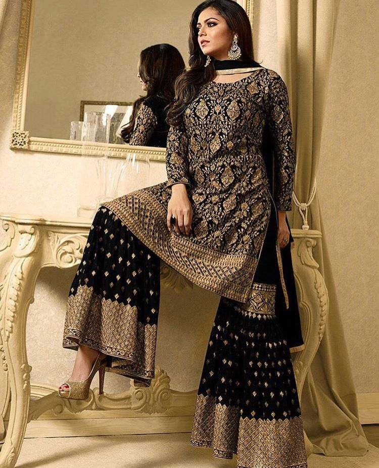 bf5b9a0b8c Pinterest: @pawank90 | Sharara and Palazzo | Sharara suit, Anarkali ...