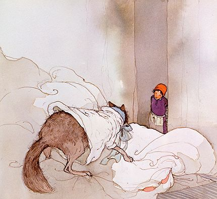 Lisbeth Zwerger. Illustrations to Little Red Cap.
